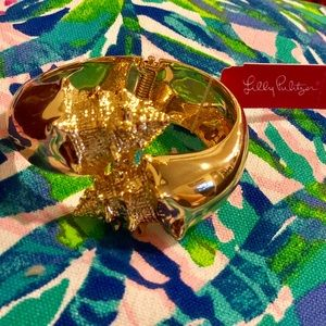 NWT Lilly Pulitzer Nautilus shell bangle bracelet